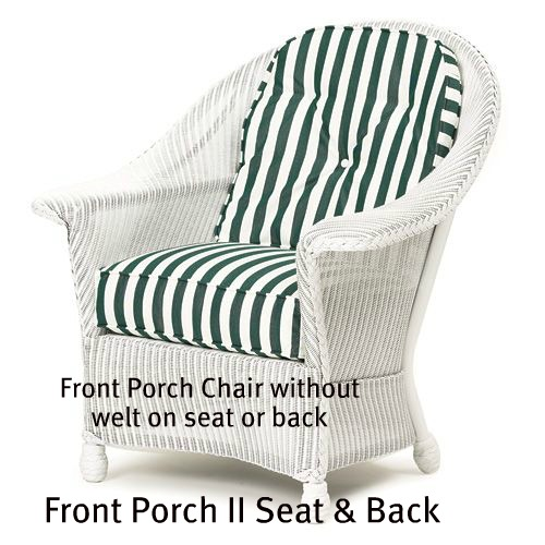142C - Front Porch II Chair Seat and Back Cushions