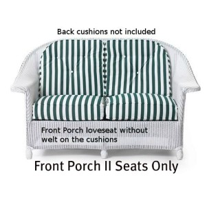 Front Porch II Loveseat Seat Cushions